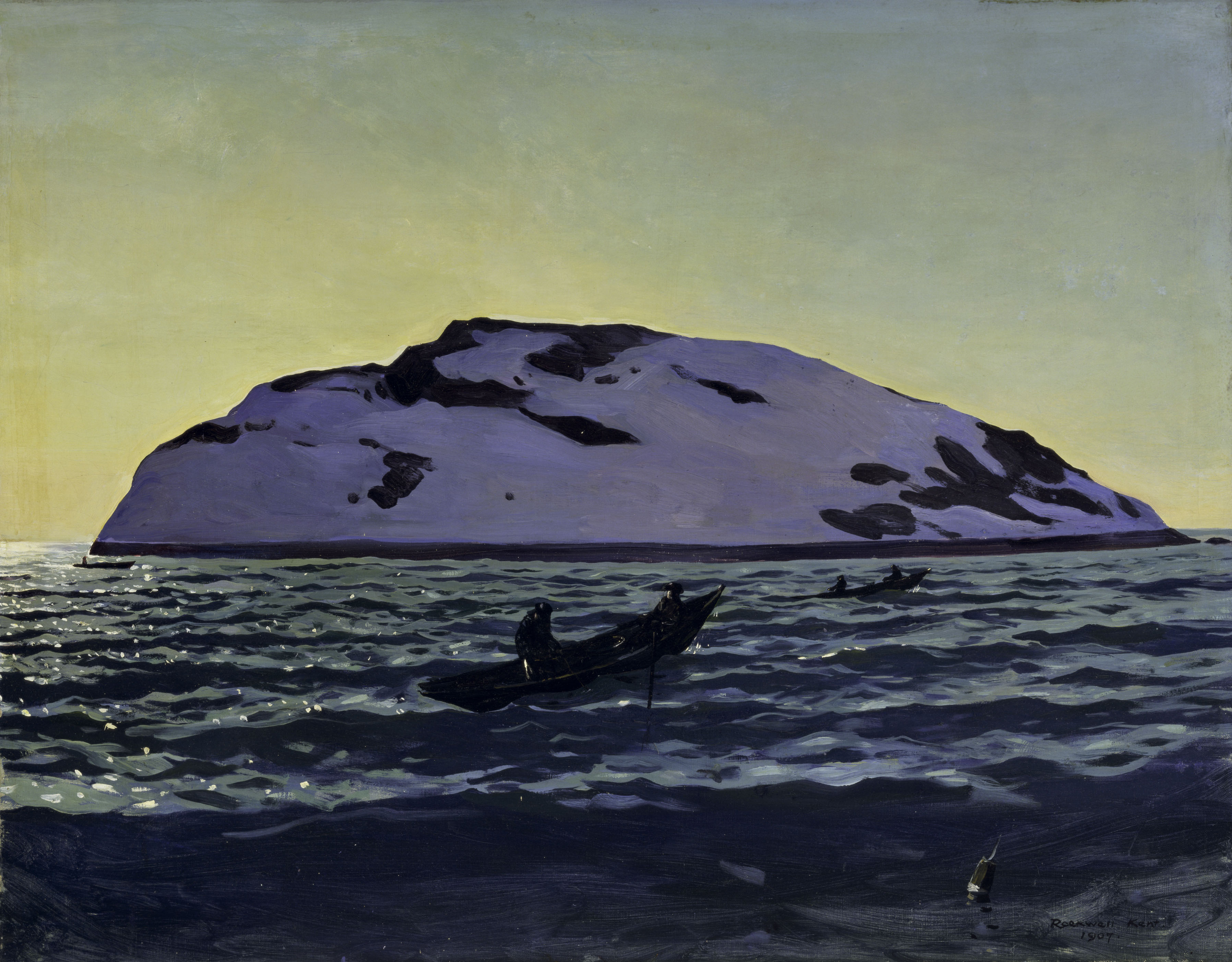 Afternoon on the Sea, Monehegan by Rockwell Kent