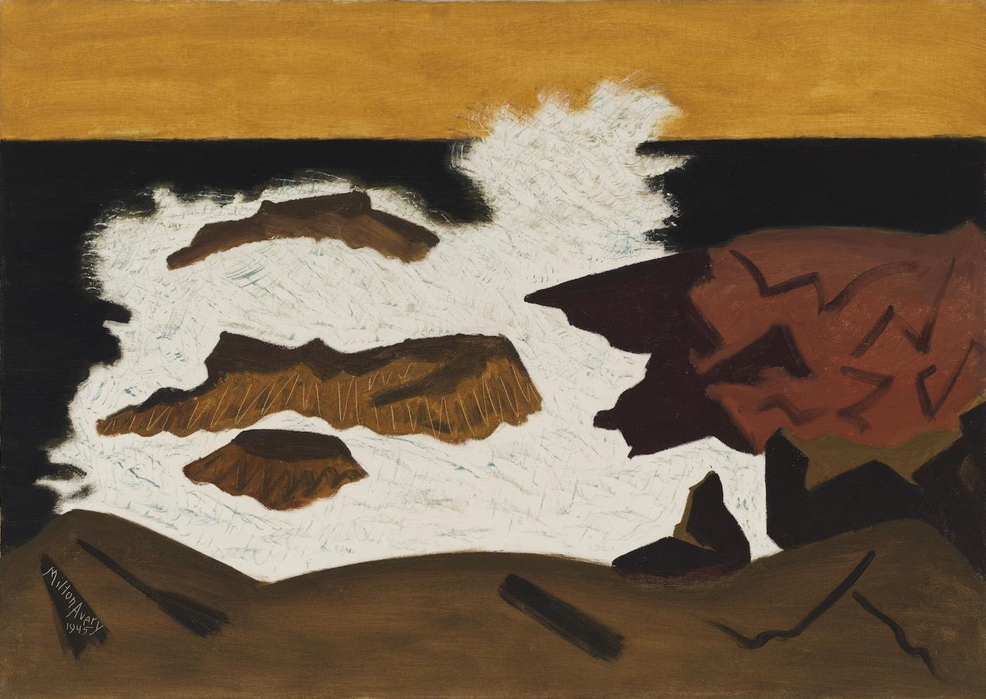Milton Avery, Black Sea, 1945