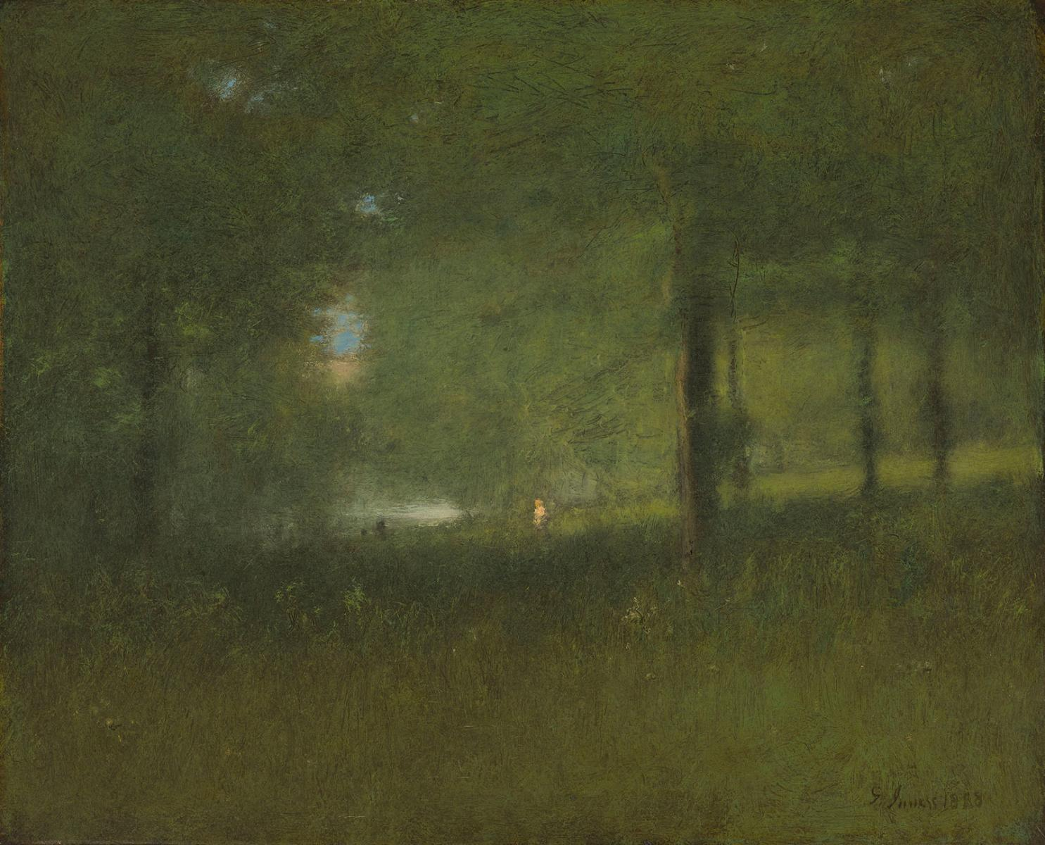 A Glimpse of the Lake by George Inness