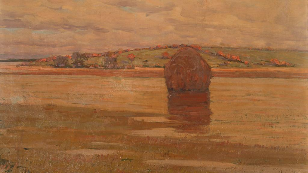 The Hill beyond the Marsh by Arthur Wesley Dow
