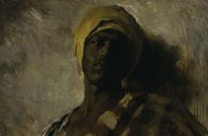 "Study for ""Guard of the Harem"" by Frank Duveneck"