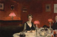 Le verre de porto (A Dinner Table at Night) by John Singer Sargent