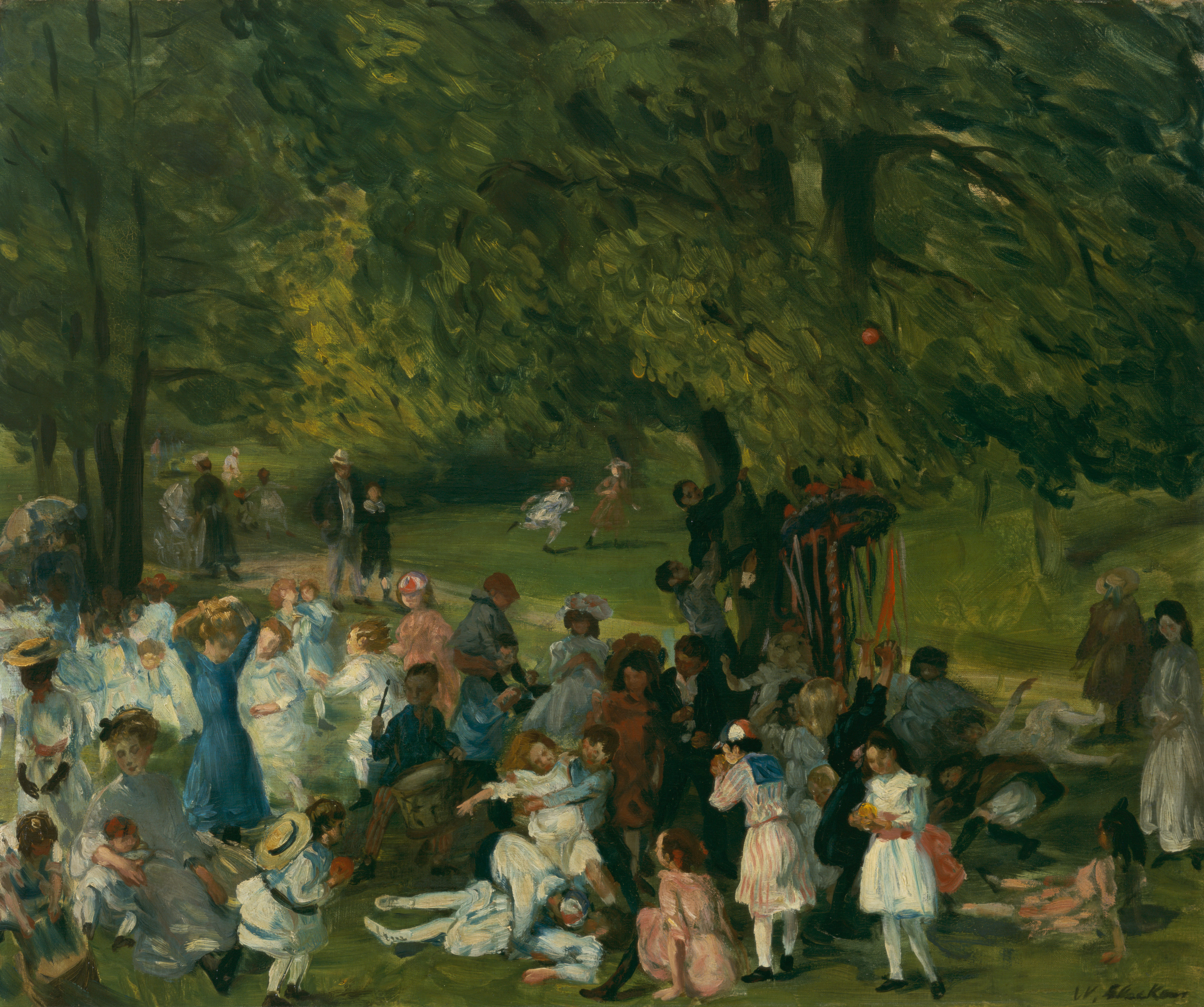May Day, Central Park by William James Glackens