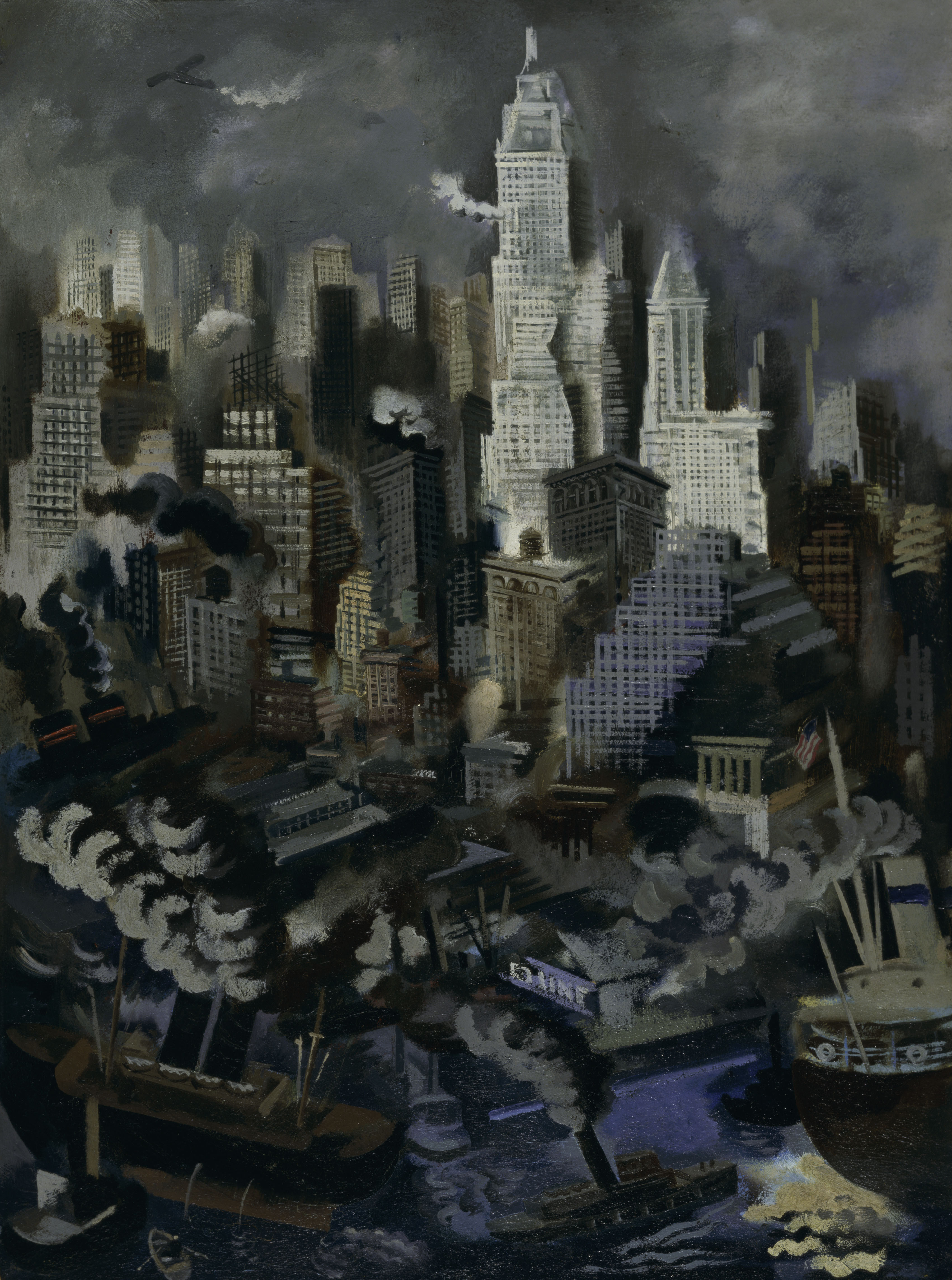 Lower Manhattan by George Grosz