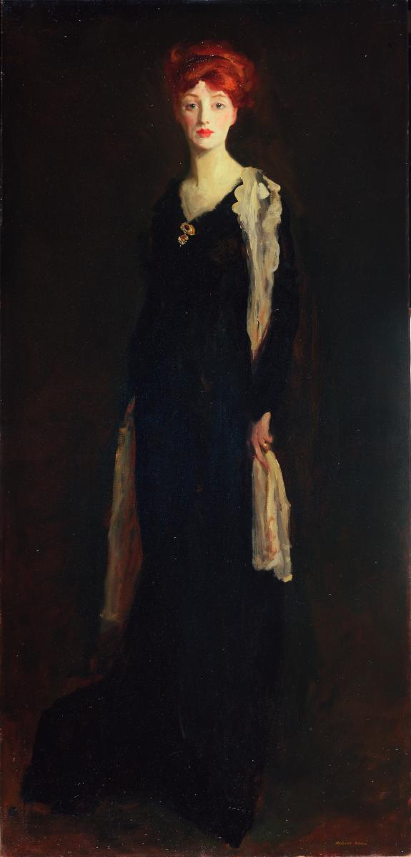 Lady in Black with Spanish Scarf (O in Black with a Scarf) by Robert Henri