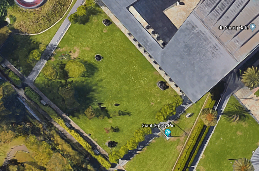 Aerial view of the de Young's Osher Sculpture Garden