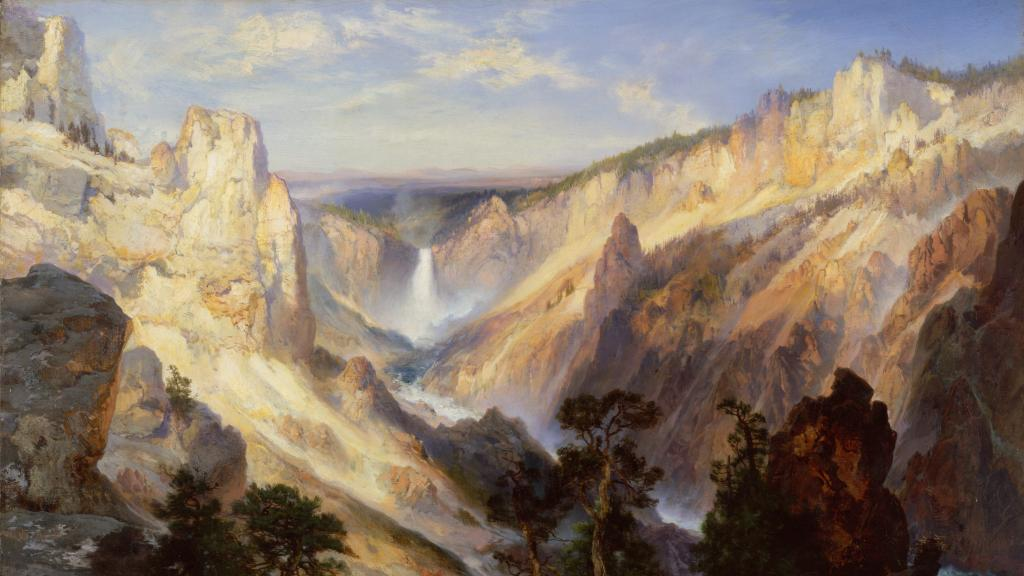Grand Canyon of the Yellowstone, Wyoming by Thomas Moran