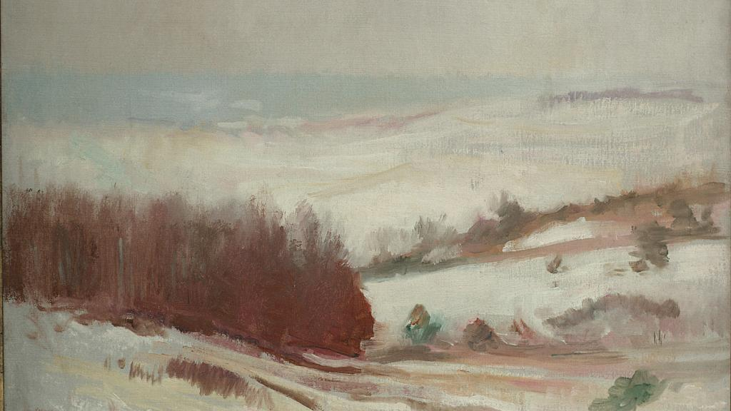 Snow Scene, Plymouth, Massachusetts by Edmund Charles Tarbell