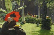 Afternoon in the Cluny Garden by Charles Courtney Curran