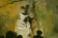 Outdoor Stage, France by Everett Shinn