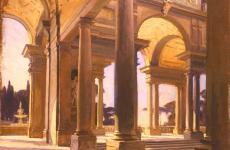 John Singer Sargent, Study of Architecture, Florence, ca. 1910